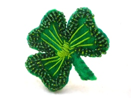embroidered lucky charm